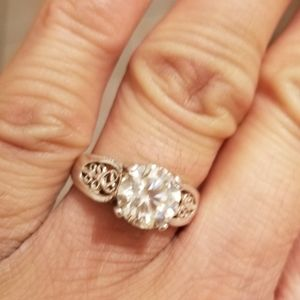 2ct authentic moissnate with 925 silver 6.5